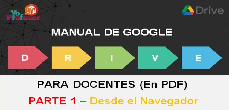 MANUAL DE GOOGLE DRIVE PARA DOCENTES – PARTE 1: DESDE EL NAVEGADOR (en PDF)