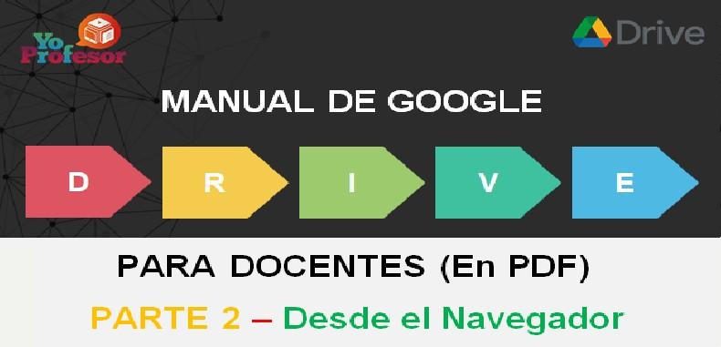 MANUAL DE GOOGLE DRIVE PARA DOCENTES – PARTE 2: DESDE EL NAVEGADOR (en PDF)