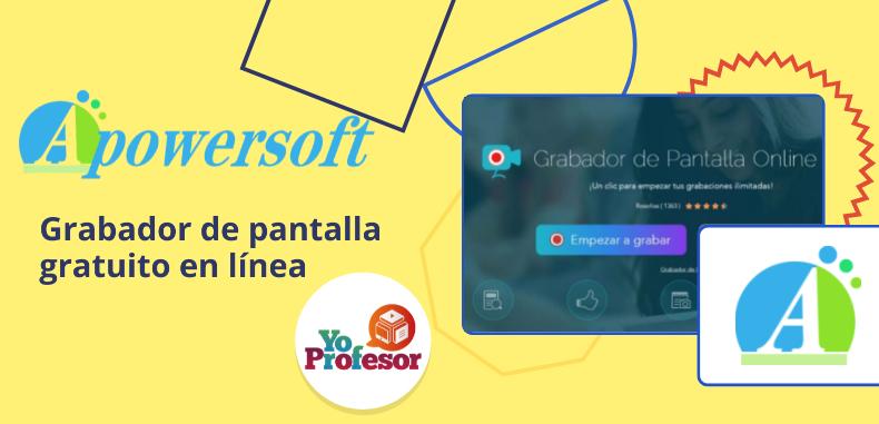 APOWERSOFT, grabador de pantalla en línea gratuito